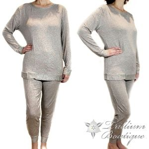 Felina French Terry Crewneck & Jogger Lounge Set